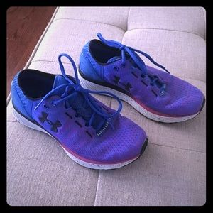 Under armour blue and purple shoes